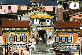 Entrance of the Badrinath temple