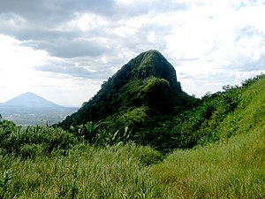Malepunyo Mountain Range - Bagwis Cliff, also known as Susong-Cambing or Susong-Dalaga