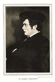 Georges Baklanoff Russian singer and opera singer (1881-1938)
