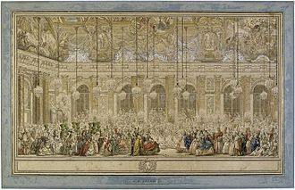Louis, Dauphin of France (son of Louis XV) - Masked Ball at Versailles for the wedding of Louis, Dauphin of France to Maria Teresa Rafaela of Spain, 1745.
