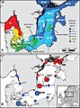Baltic sea bottom salinity and distribution of Platichthys populations - fmars-05-00225-g001.jpg