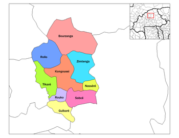 Guibare Department location in the province