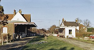 Barcombe Mills railway station - Image: Barcombe Mills Station (remains) geograph.org.uk 1757928