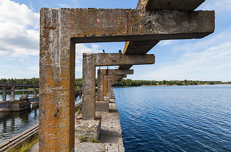 Remainings of a former Soviet submarine base, Lahemaa National Park, Estonia