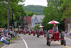 Bath (village), New York - Antique tractors in Bath, New York's annual dairy parade.
