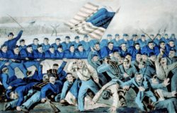 The battle of Malvern Hill, di Currier e Ives