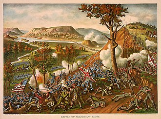 Battle of Missionary Ridge - Battle of Missionary Ridge, Nov. 25th, 1863, by Kurz and Allison