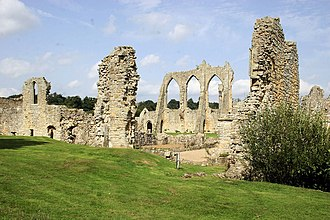 Bayham Old Abbey - View of Bayham Abbey from the South