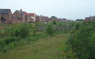 Fairford Leys - The Bear Brook through Fairford Leys