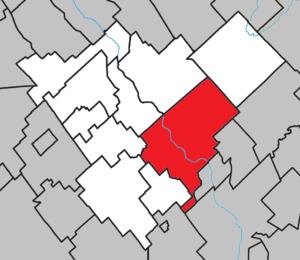 Beauceville, Quebec - Image: Beauceville Quebec location diagram
