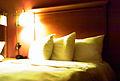Bed in hotel.JPG