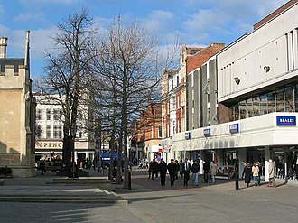 Castle, Bedford - Image: Bedford Shopping Centre Feb 2004