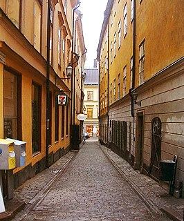 Bedoirsgränd alley in Gamla stan, Stockholm, Sweden