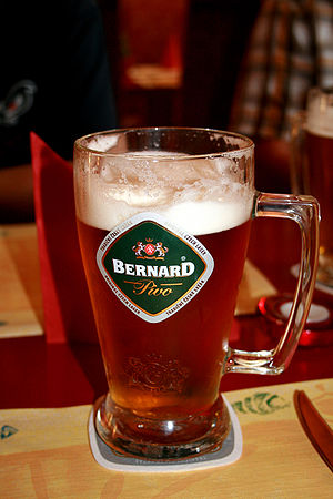 Czech beer Bernard