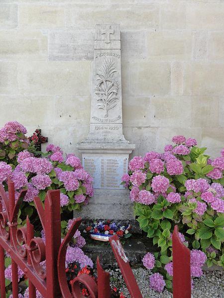 Behonne (Meuse) monument aux morts fleuri