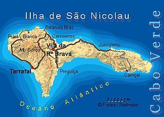 São Nicolau, Cape Verde - Image: Bela vista net Sao Nicolau map