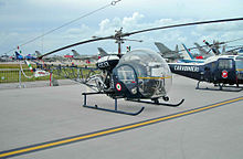 Bell 47 on bell 412 helicopter