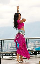Belly dancing girl, Yasmia snapped at Vancouver Sawan Mela, 2011.jpg