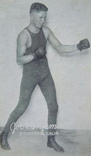 Joe Benjamin (boxer) - Benjamin in 1920