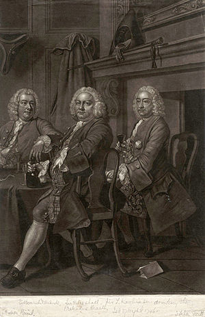 "John Faber Jr. - ""Benn's Club"", with Robert Alsop; William Benn; John Blashford."