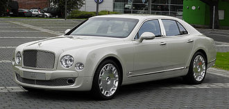 "Bentley Mulsanne (2010) - Bentley Mulsanne with optional ""Flying B"" hood ornament."