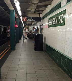 New York City Subway station in Brooklyn, New York