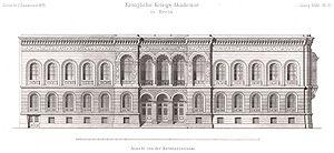 Prussian Military Academy - Facade of 58/59 Dorotheenstraße designed by Franz Schwechten (1883)