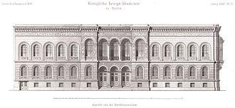 Prussian Staff College - Facade of 58/59 Dorotheenstraße designed by Franz Schwechten (1883)