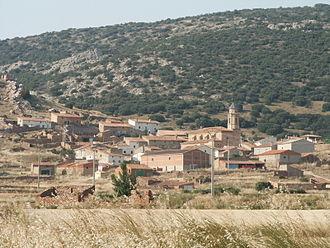 Berrueco - View of Berrueco from the Fuente de los Haces