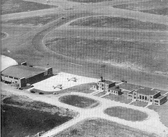 Nashville International Airport - Tennessee National Guard facilities at Berry Field during World War 2.