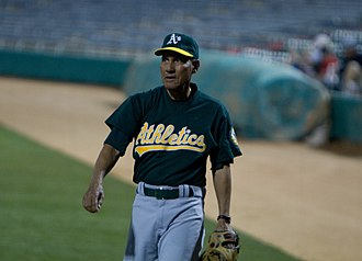 Bert Campaneris - Campaneris playing in a charity baseball game, 2010