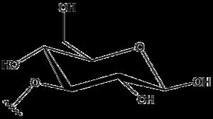 Glycosyl - Image: Beta D Glucopyranos 3 O yl