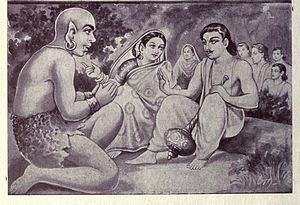 Bhima - Bhima (right) with his wife Hidimbi and son Ghatotkacha.