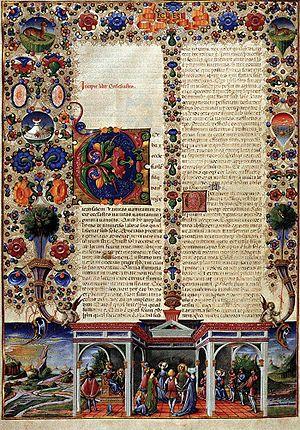 Borso d'Este Bible - Page from the Borso d'Este Bible