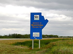Entering Manitoba from Saskatchewan on the Yellowhead Highway.