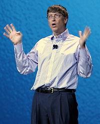 Bill Gates wearing a dress shirt