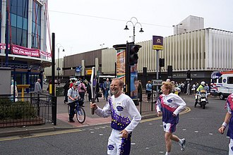 2002 Commonwealth Games - The Queen's Jubilee Baton Relay passes through Wolverhampton before the 2002 Commonwealth Games in Manchester