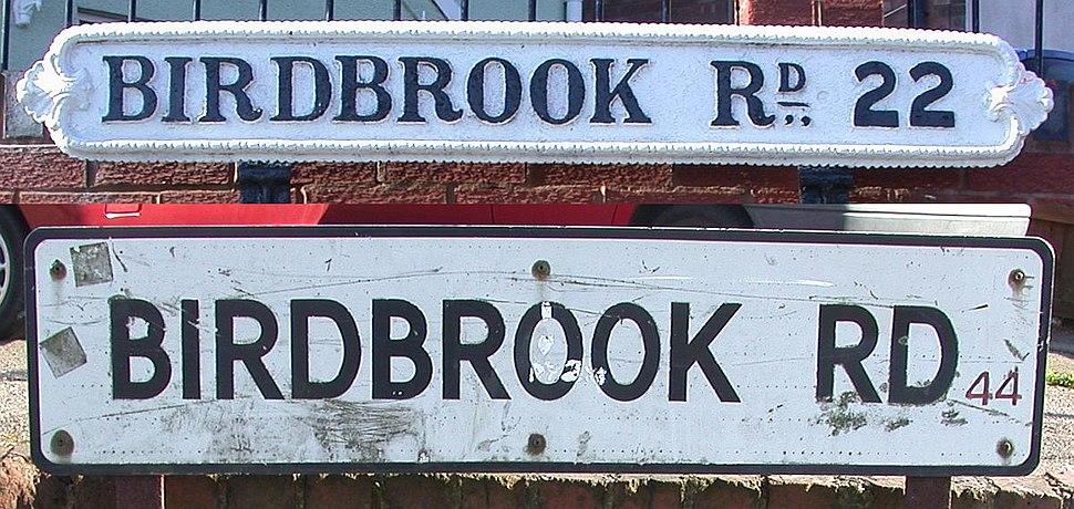 BirdbrookRoadSigns