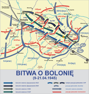 Battle of Bologna - Map of the battle