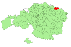 Location of Ea in Biscay.