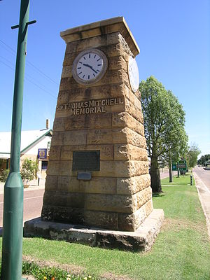 Blackall, Queensland - Memorial to Sir Thomas Mitchell