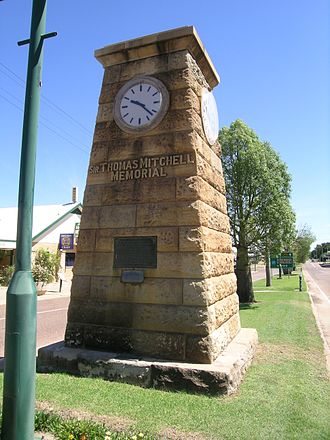 Blackall, Queensland - Memorial to Sir Thomas Mitchell