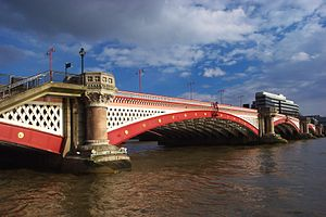Andrew Betts Brown - Blackfriars Bridge, London was built with Brown's newly invented overhead travelling crane