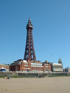 Blackpool Tower, a Blackpool landmark.