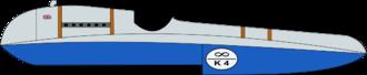 Blue Bird K4 - A drawing of the Blue Bird K4.