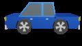 Blue Car Side Animation Clipart 3D Render.png