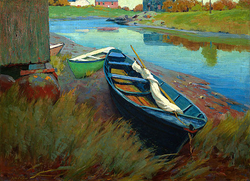 Boats at Rest by Arthur Wesley Dow c1895