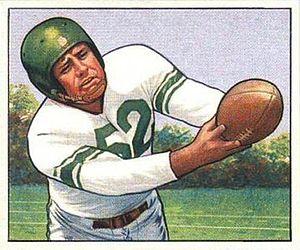 Bob Nowaskey - Nowaskey on a 1950 Bowman football card