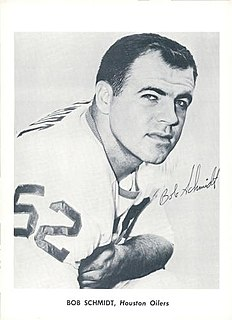 Bob Schmidt (American football) American football center