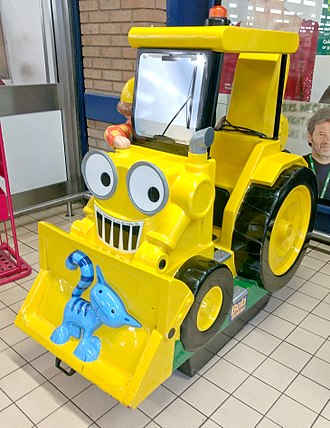 Bob the Builder - Bob the Builder video-optioned Scoop kiddie ride